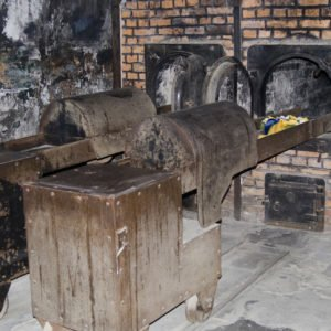 Oven for incineration dead bodies of people in Auschwitz - Birkenau concentration camp