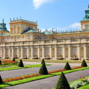 Warsaw, Poland. Famous Wilanow palace and gardens.