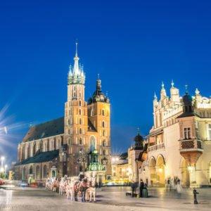 Rynek Glowny - The main square of Krakow in Poland